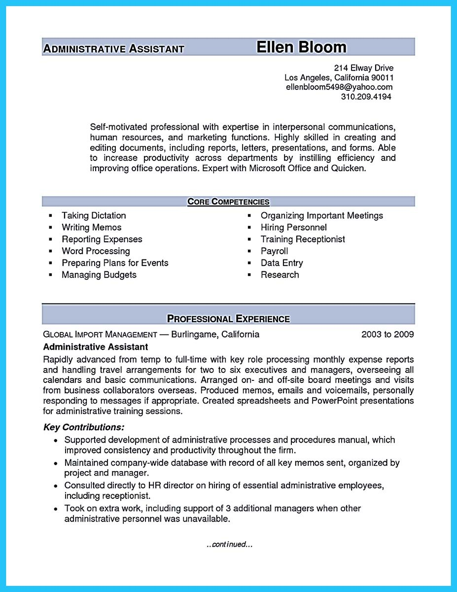 sample resume for sales personnel