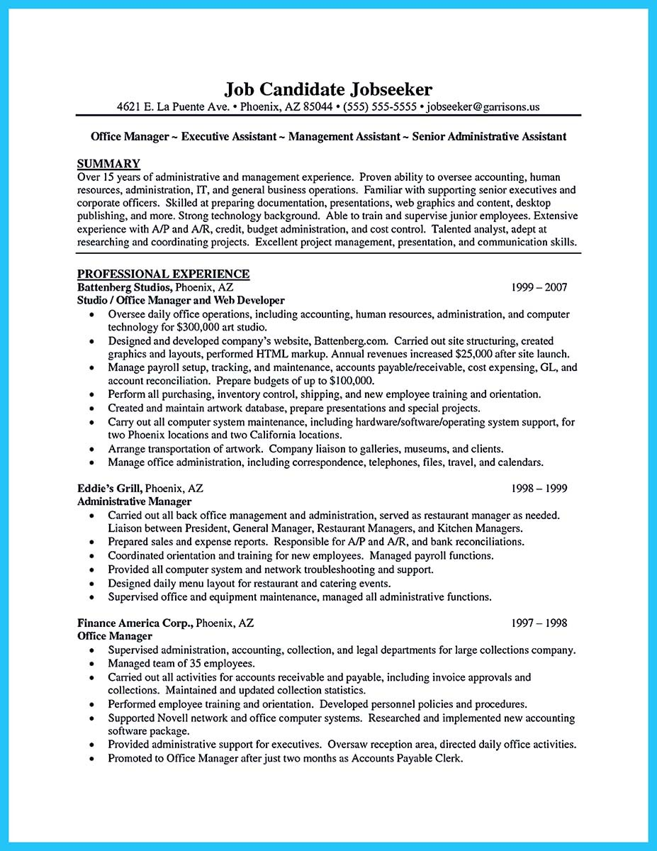 great administrative assistant resume examples