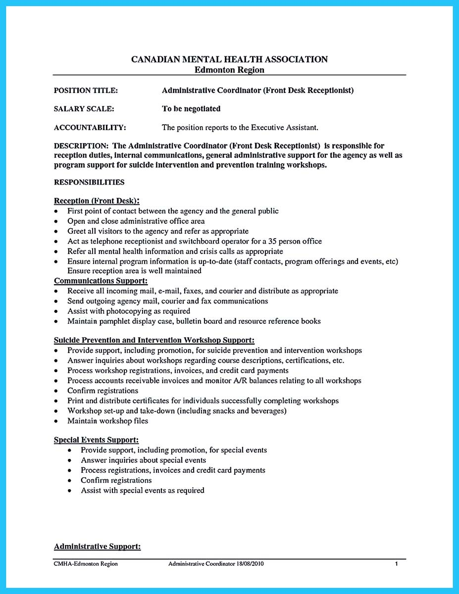 Front Office Coordinator Cover Letter