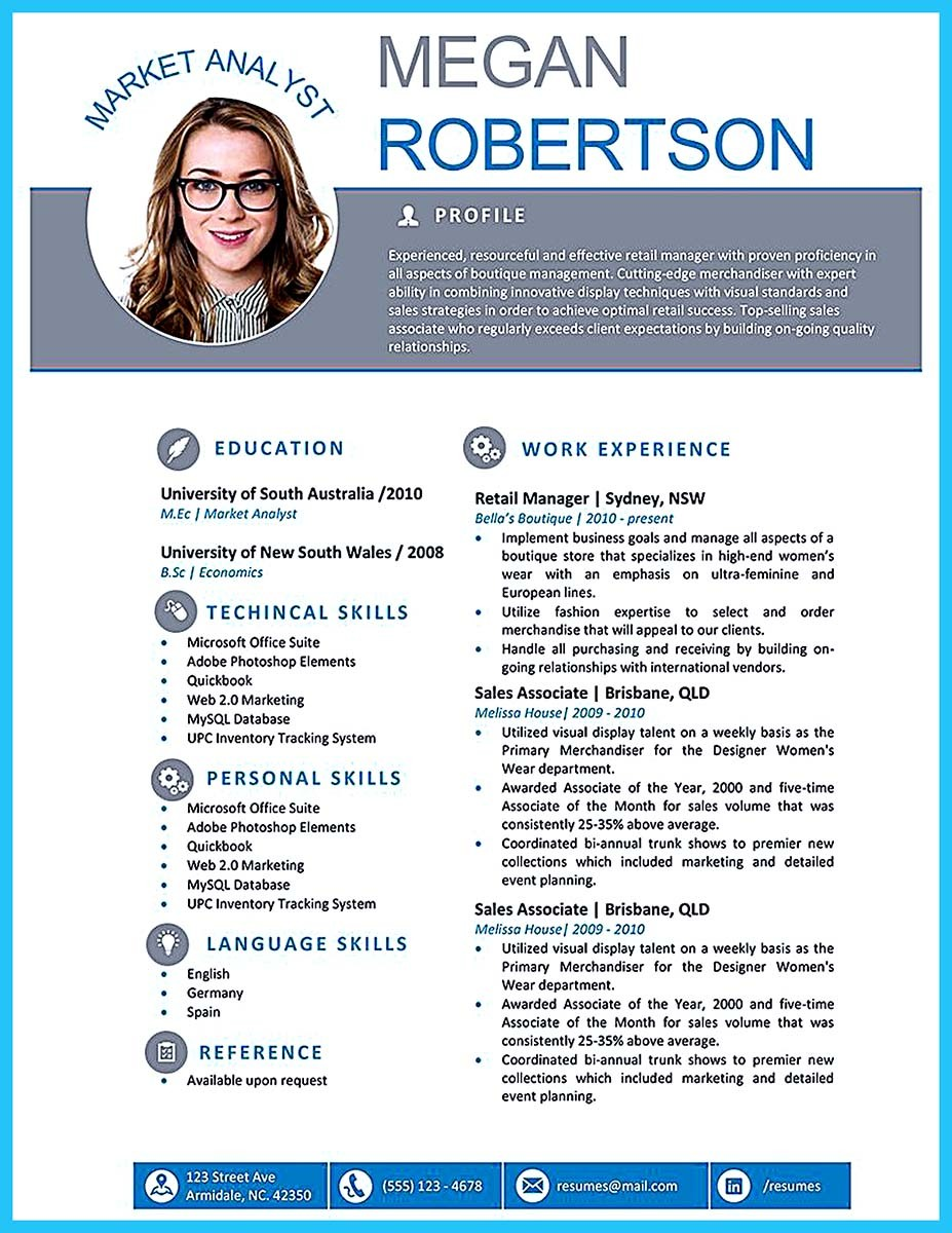 cv english professional profile