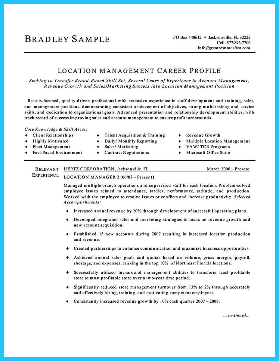 Assistant apartment manager sample resume