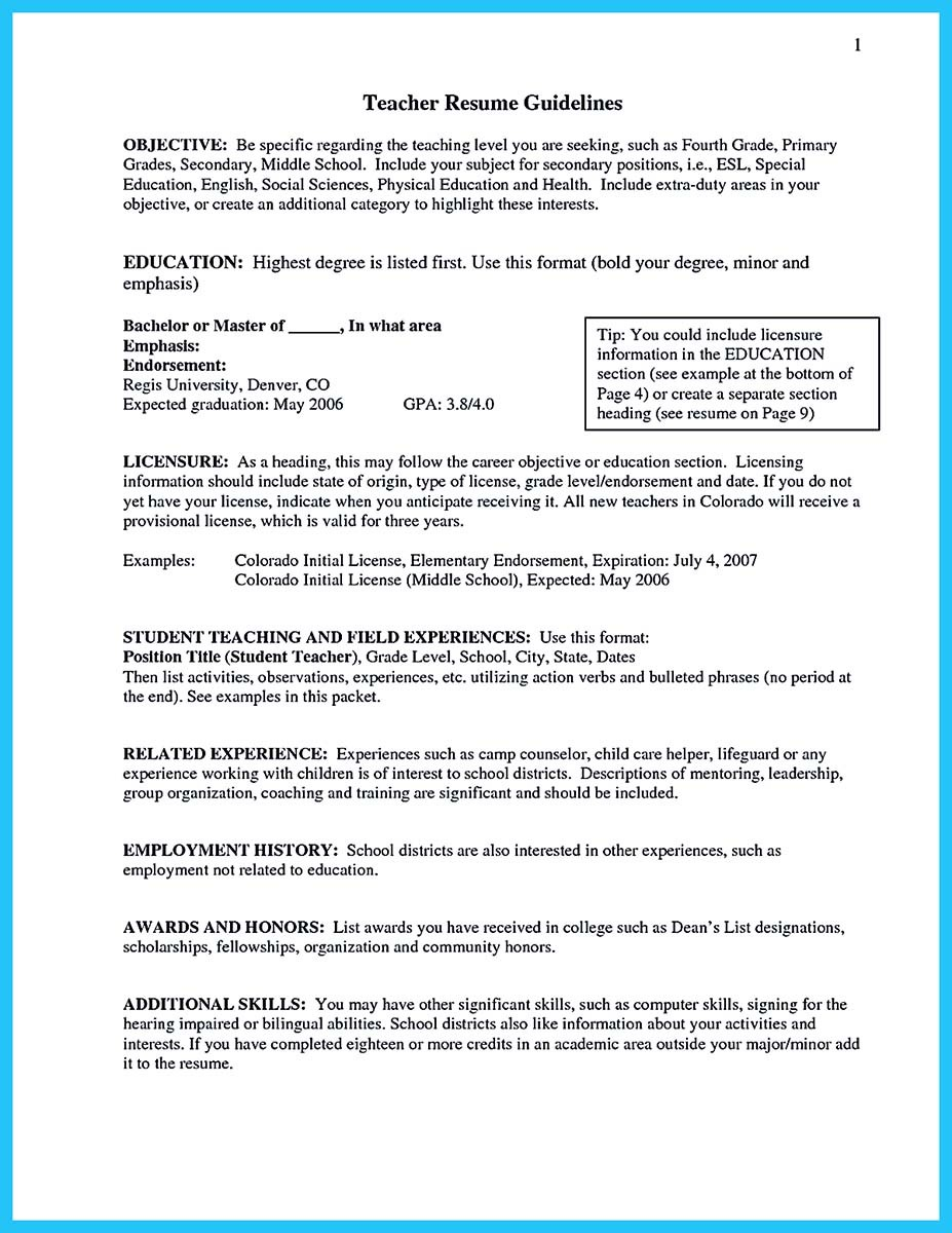 resume education and license