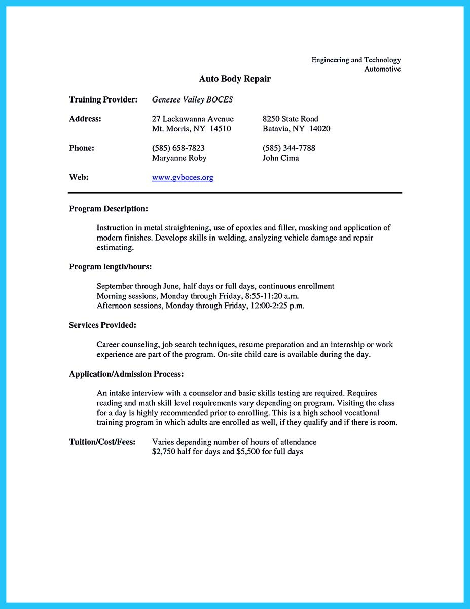 resume samples technician