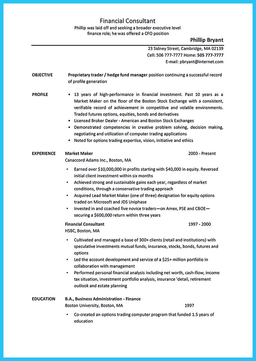 resume examples business management