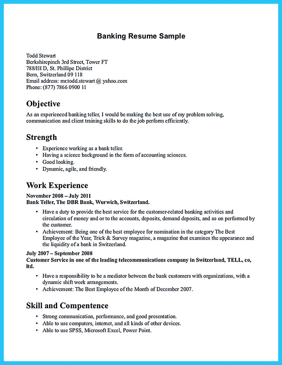 teller resume sample bank teller resume example objectives bank teller resume sample bank teller resume example objectives bank. Resume Example. Resume CV Cover Letter