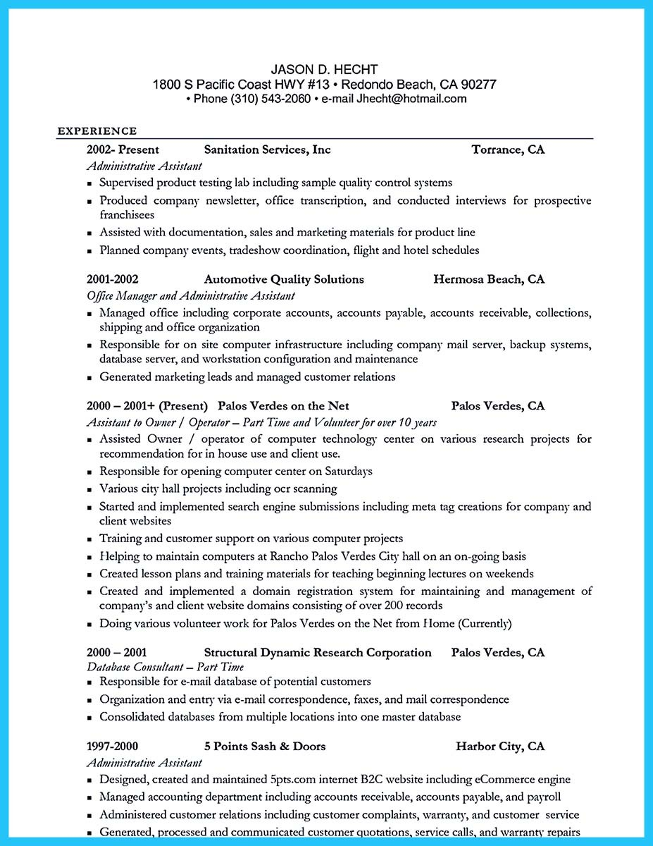 lead server resume sample