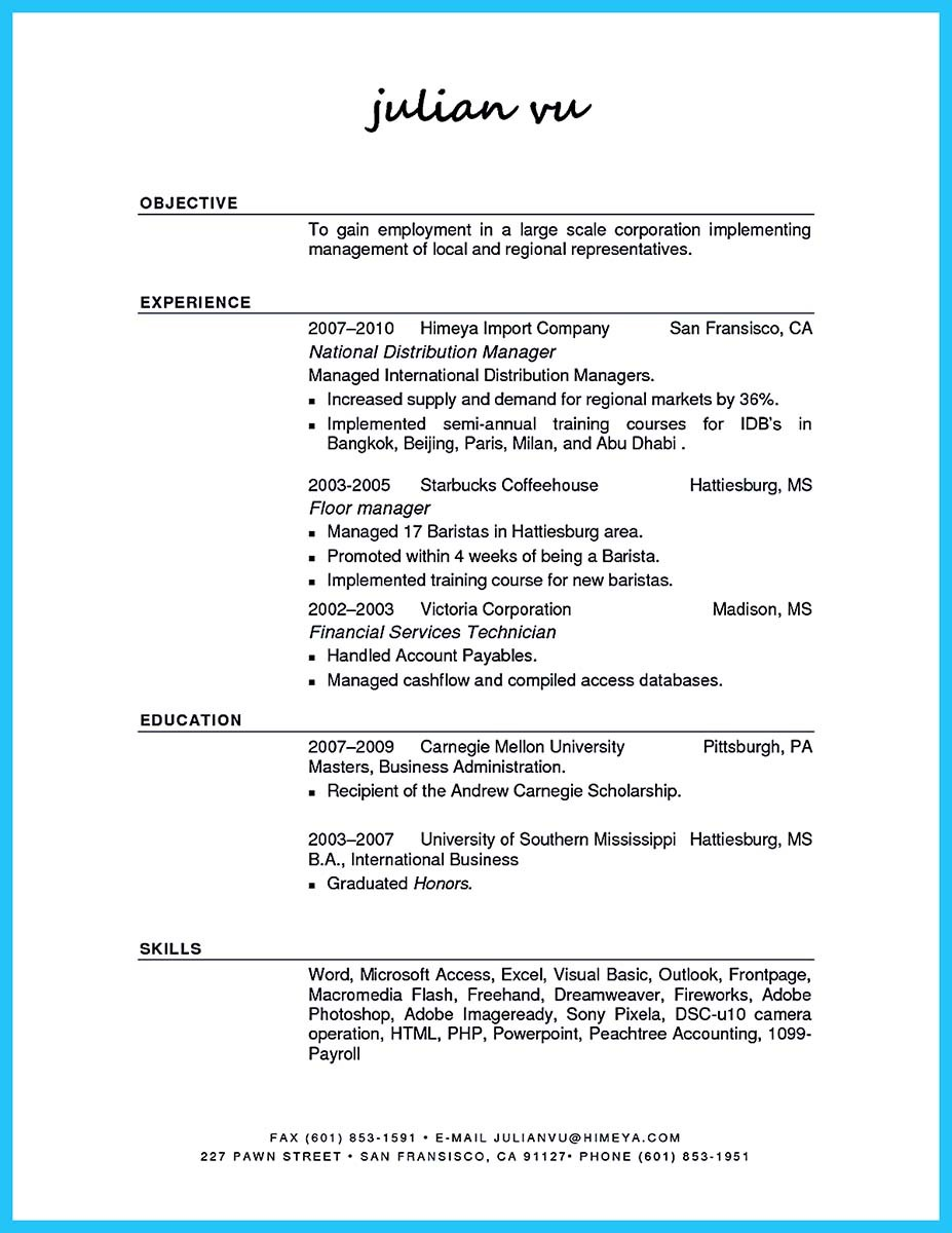 resume in indesign create professional resumes example online - Distribution Manager Sample Resume