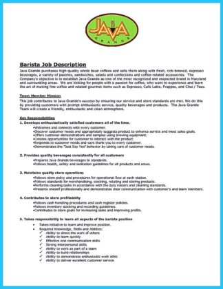 How To Do A Resume On Word 2010 Excel Barista Duties Responsibilities Resume  Sample Customer Service  What A Resume Should Include Pdf with Labor And Delivery Nurse Resume Word Barista Duties Responsibilities Resume Barista Resume Gourmet Coffee Lovers Barista  Duties Resume Sample X Barista Experience First Year College Student Resume