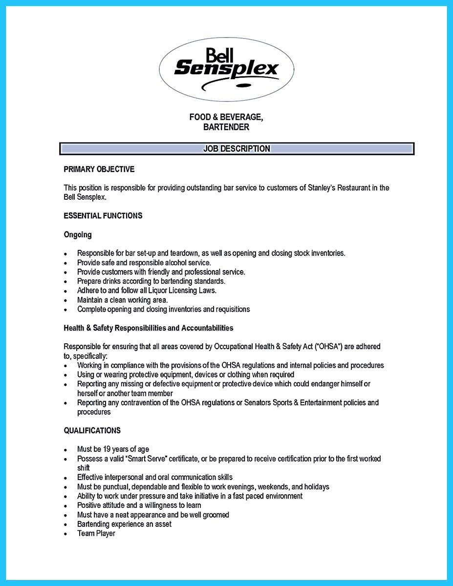 resume responsibilities of a server