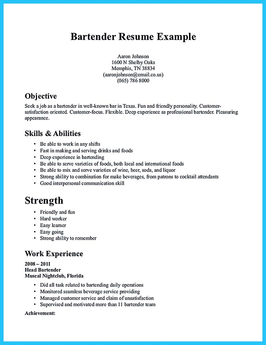resume skills for first job