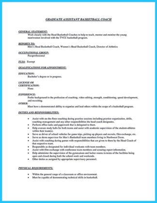 assistant coach cover letter - Towerssconstruction
