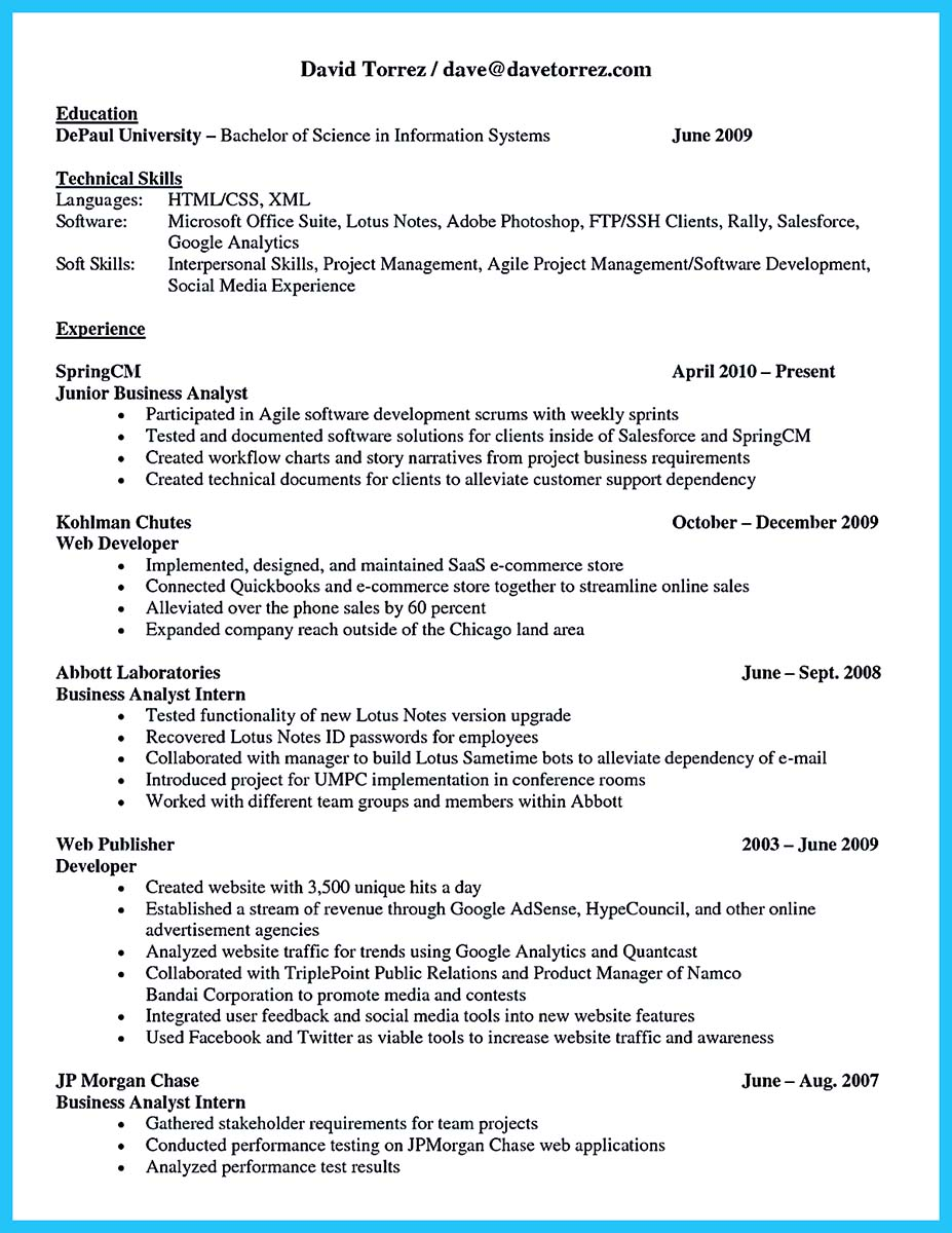 management systems analyst resume sample example