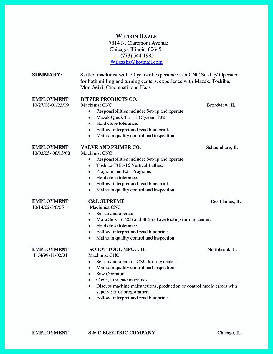 machinist resume samples us scenic resume example resume formats ...