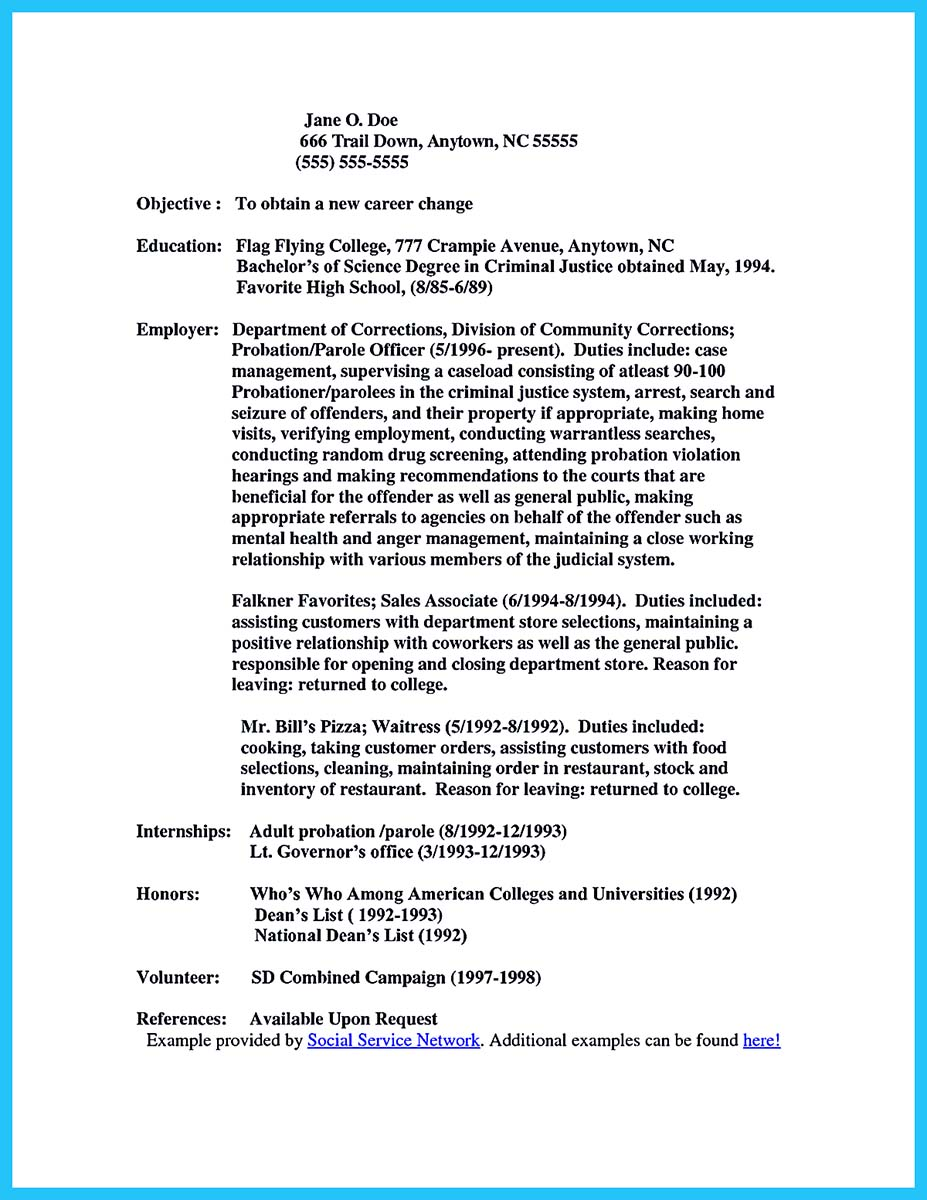 resume with various experience