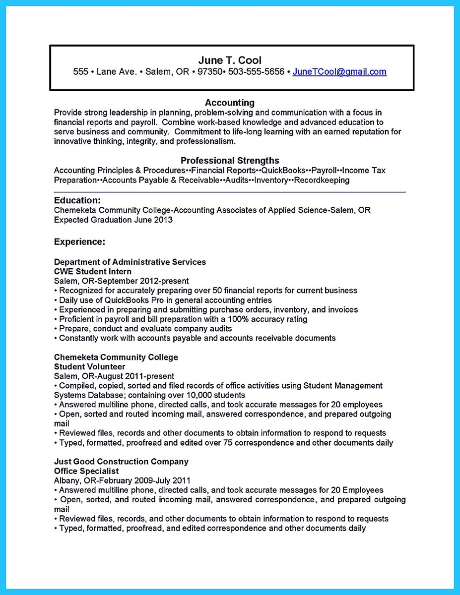 best resume templates for no work experience