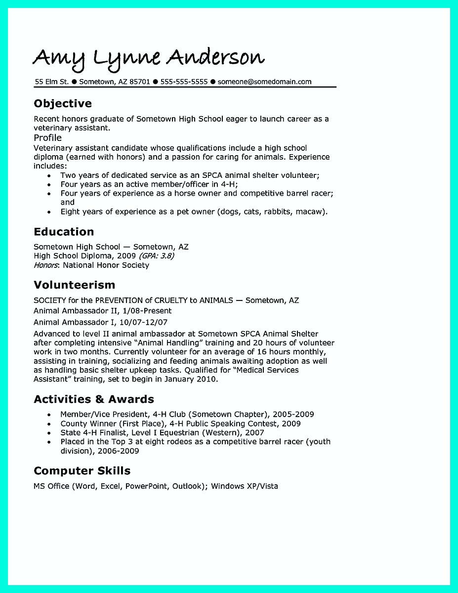 resume template for after college create