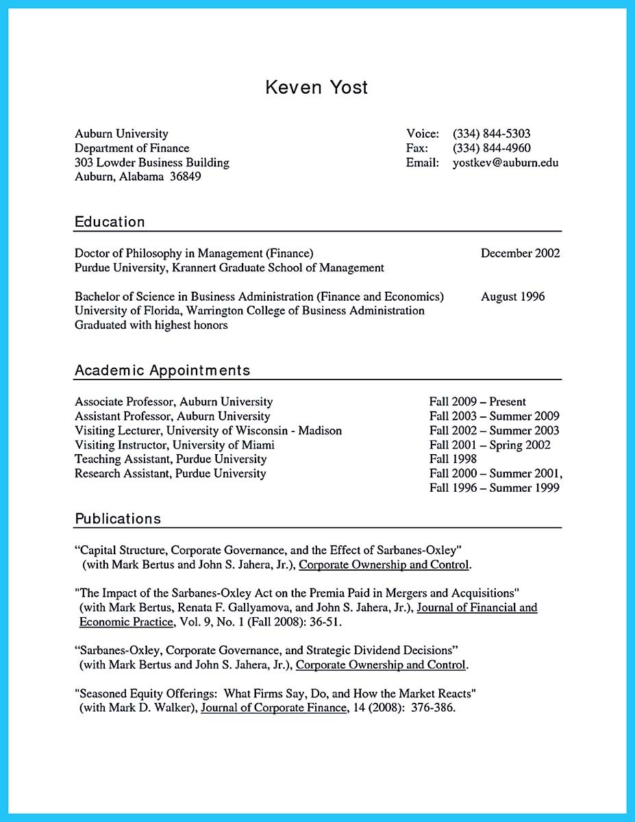 resume how to write profile