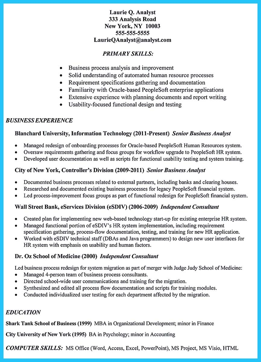 sample resume for investment banking analyst