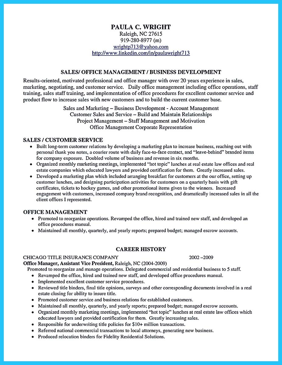 resume examples for business development manager