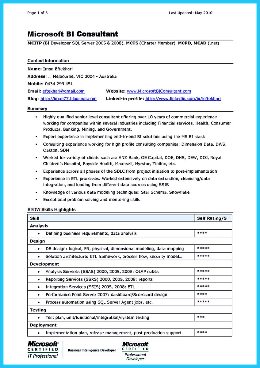 Business analyst consulting cover letter