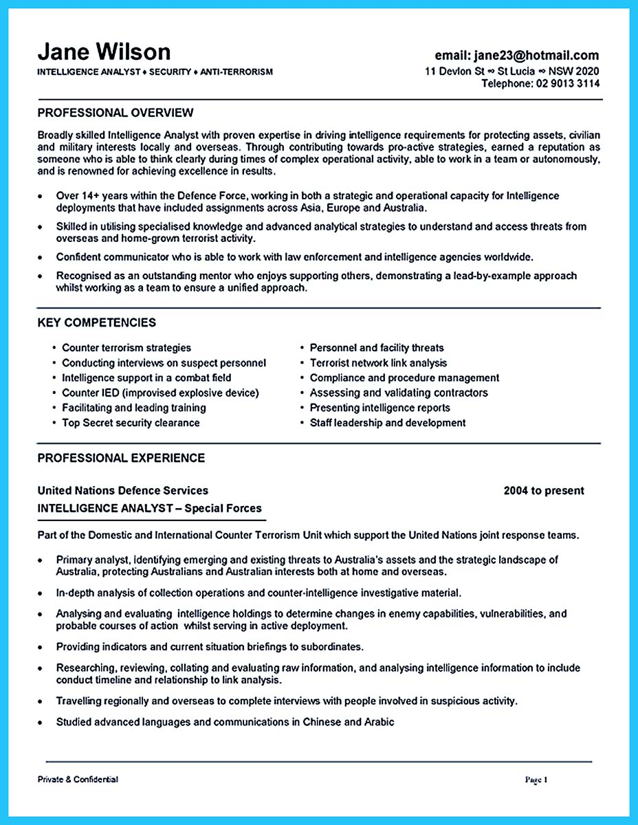 resume support qualifications