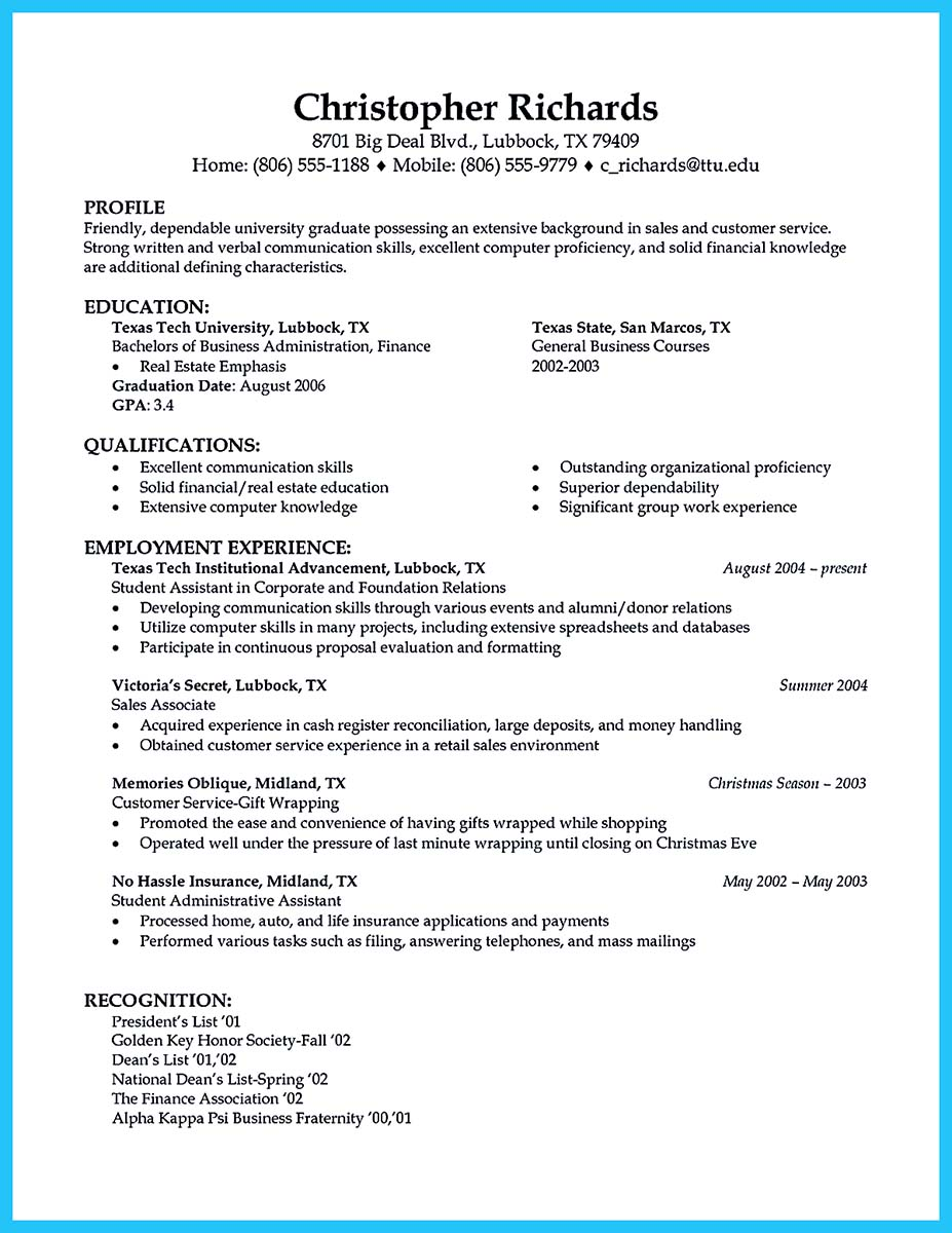 sample resume for car salesman with no experience