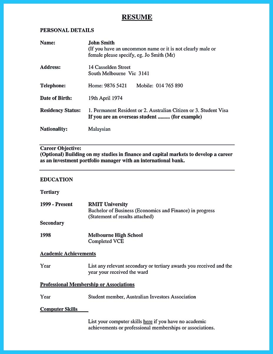 resume objective examples for teller banking