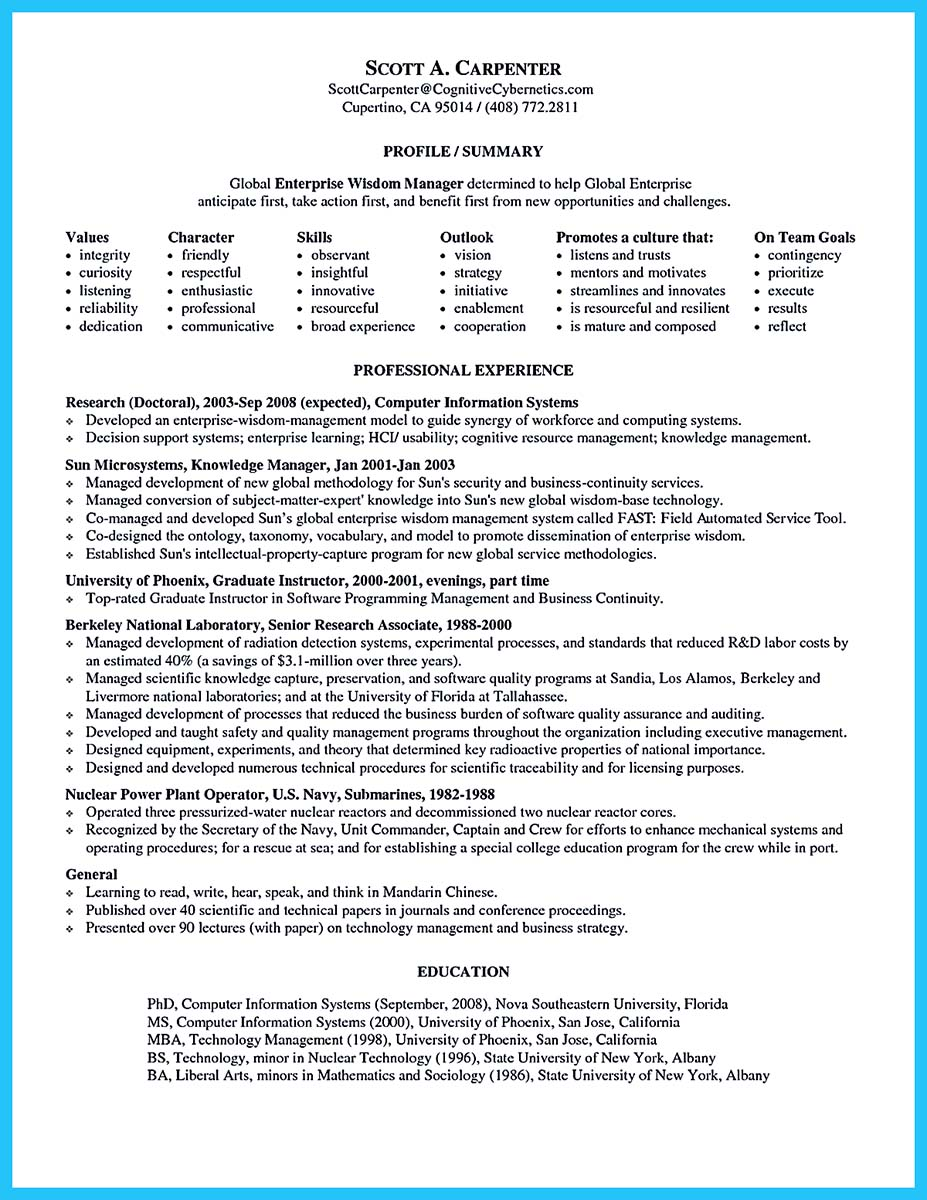 perfect resume cover letter sample