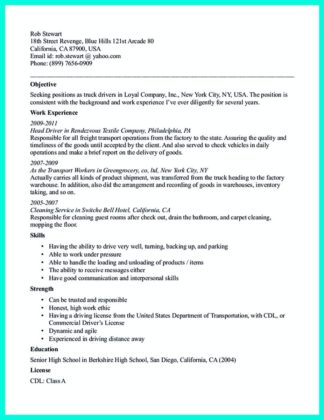 Sample Graduate Student and Post-Graduate Resumes Style for bus - cdl driver resume