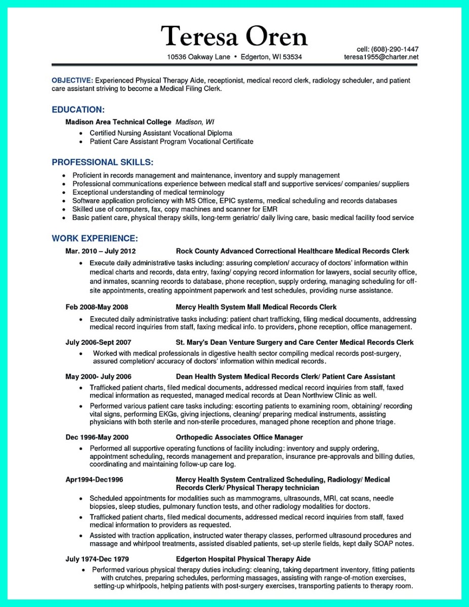certified nursing assistant resume objective needed on