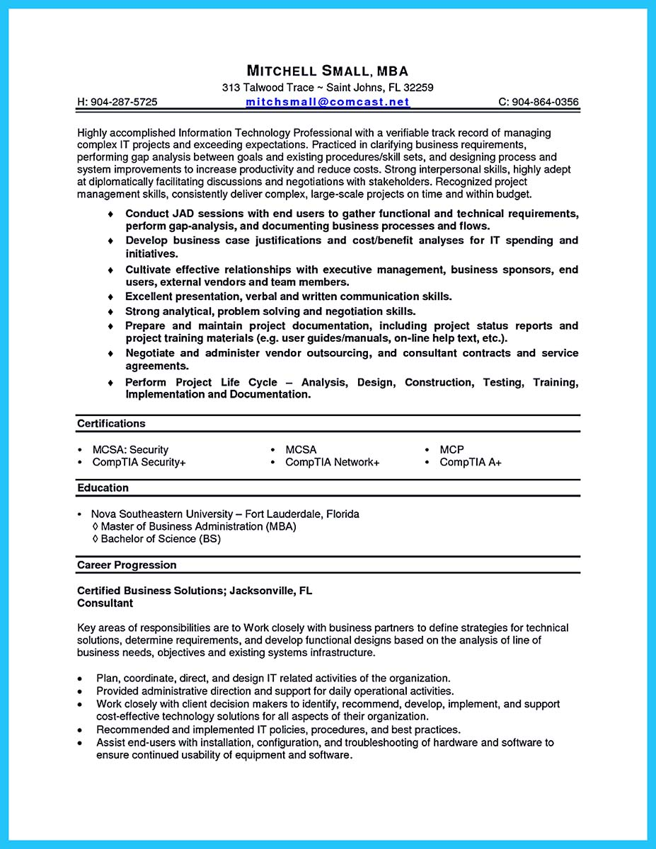 example of written resumes