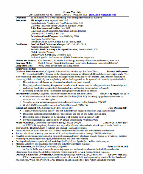 clinical research resume examples