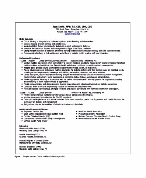 resume skills summary