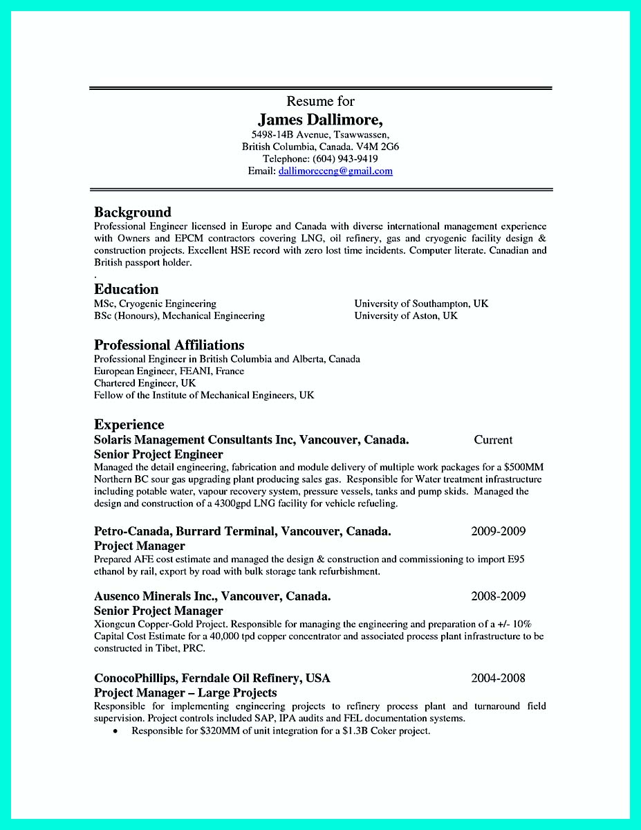 what resume template to use in europe