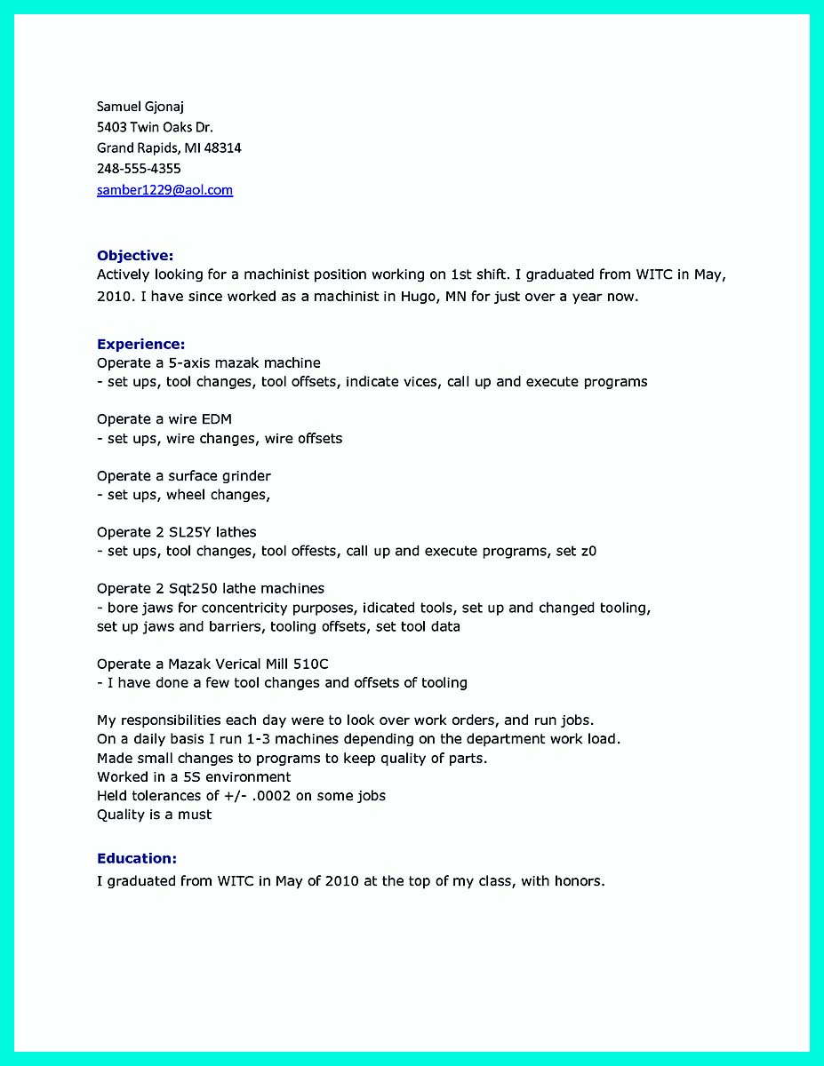 resume samples for writing jobs