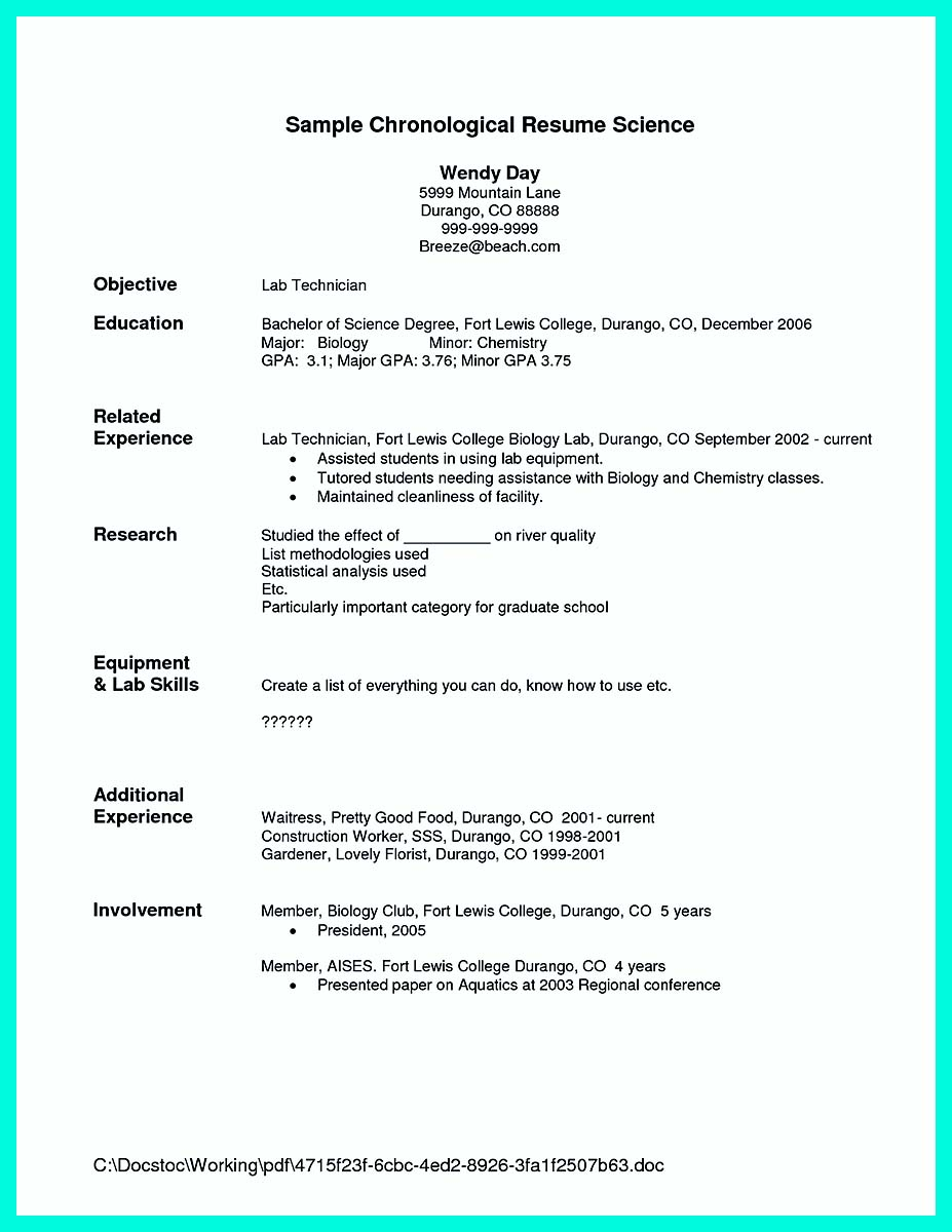 how to make a good resume examples