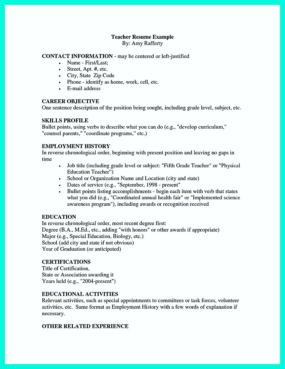 sample resume for immigrants