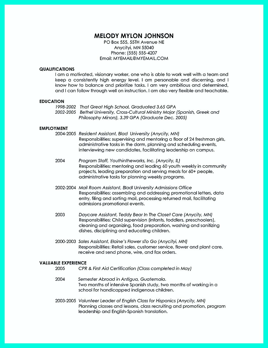 resume templates for college grad