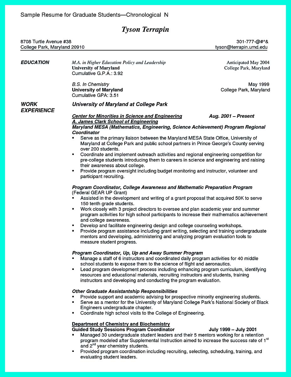 Resume National Society Of Leadership And Success Resume terrible resume for a recent college grad chic design graduate no experience example the balance college