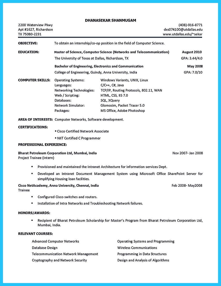 resume for college student with no experience examples