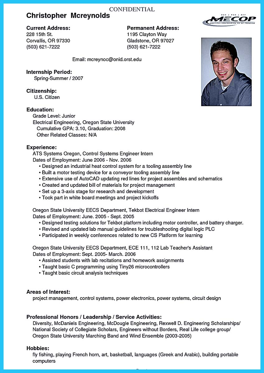 objective for college resume