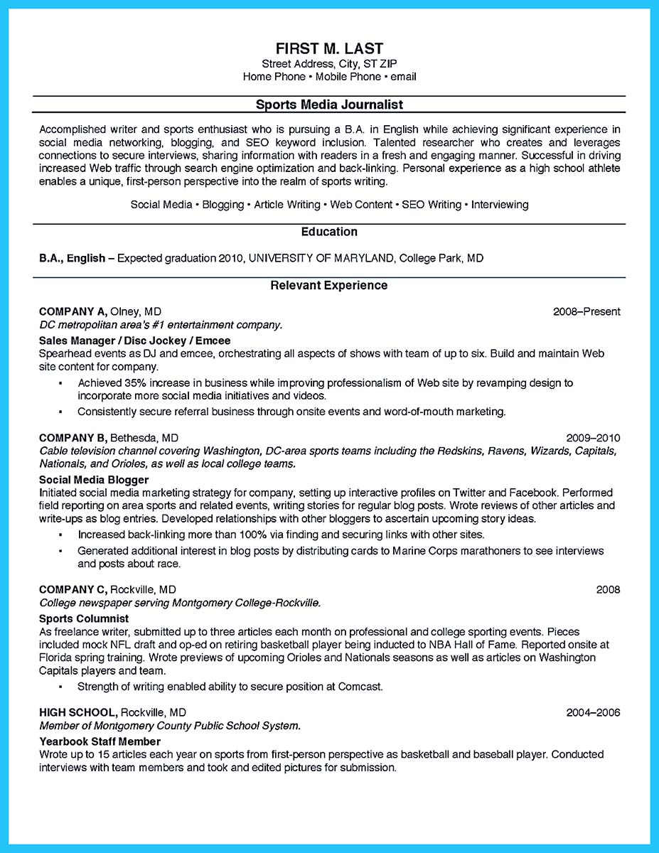resume templates with work experience