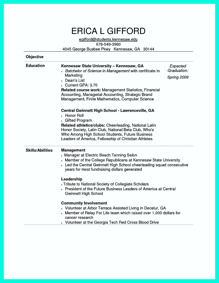 computer experience resume