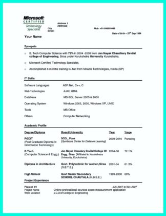 Computer Science Resume What You Will Include In The Computer - computer science resume objective