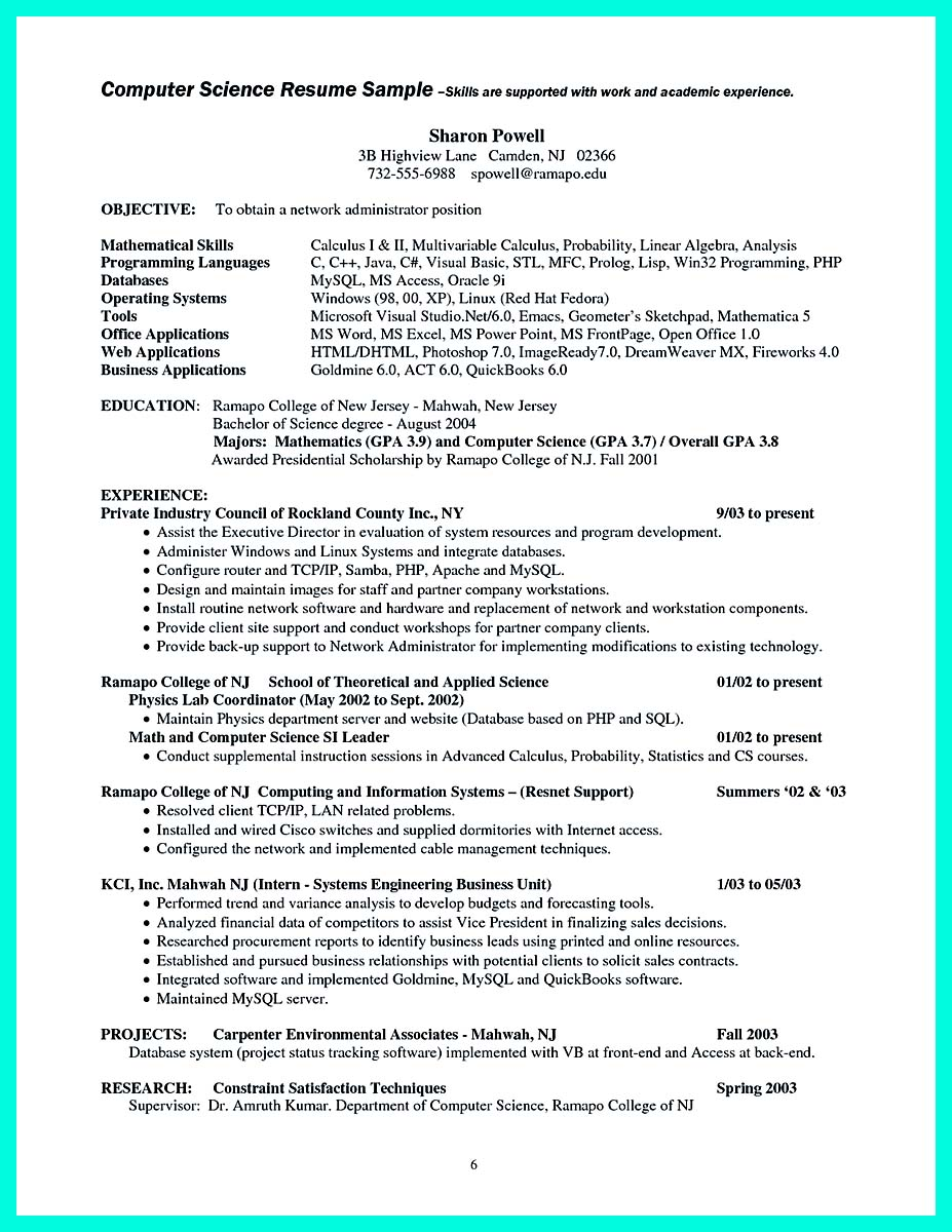 Format of resume for lecturer job