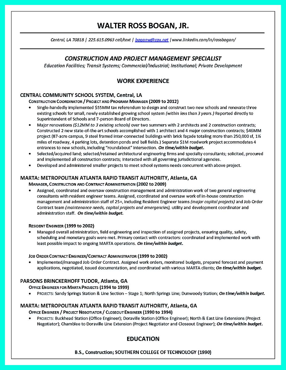 construction project manager assistant resume 28 images