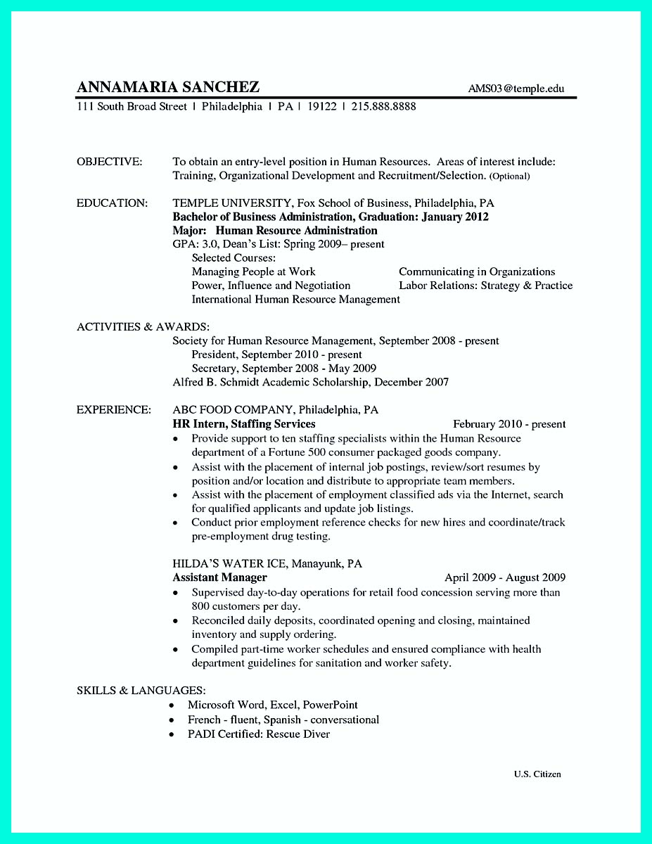 objective sample for resume