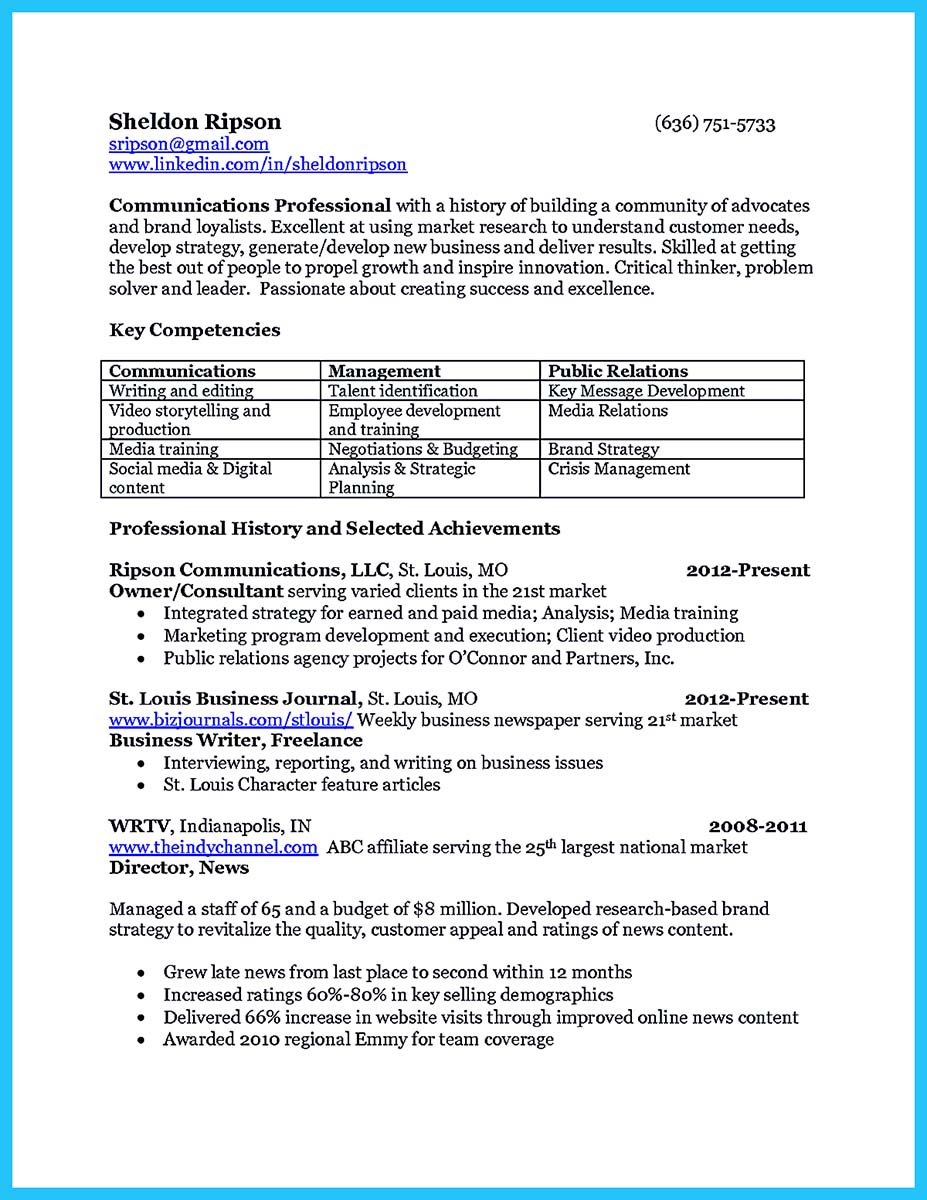 resume samples for corporate jobs
