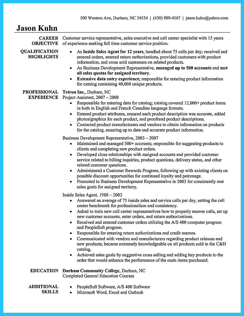 resume objective examples for customer service jobs