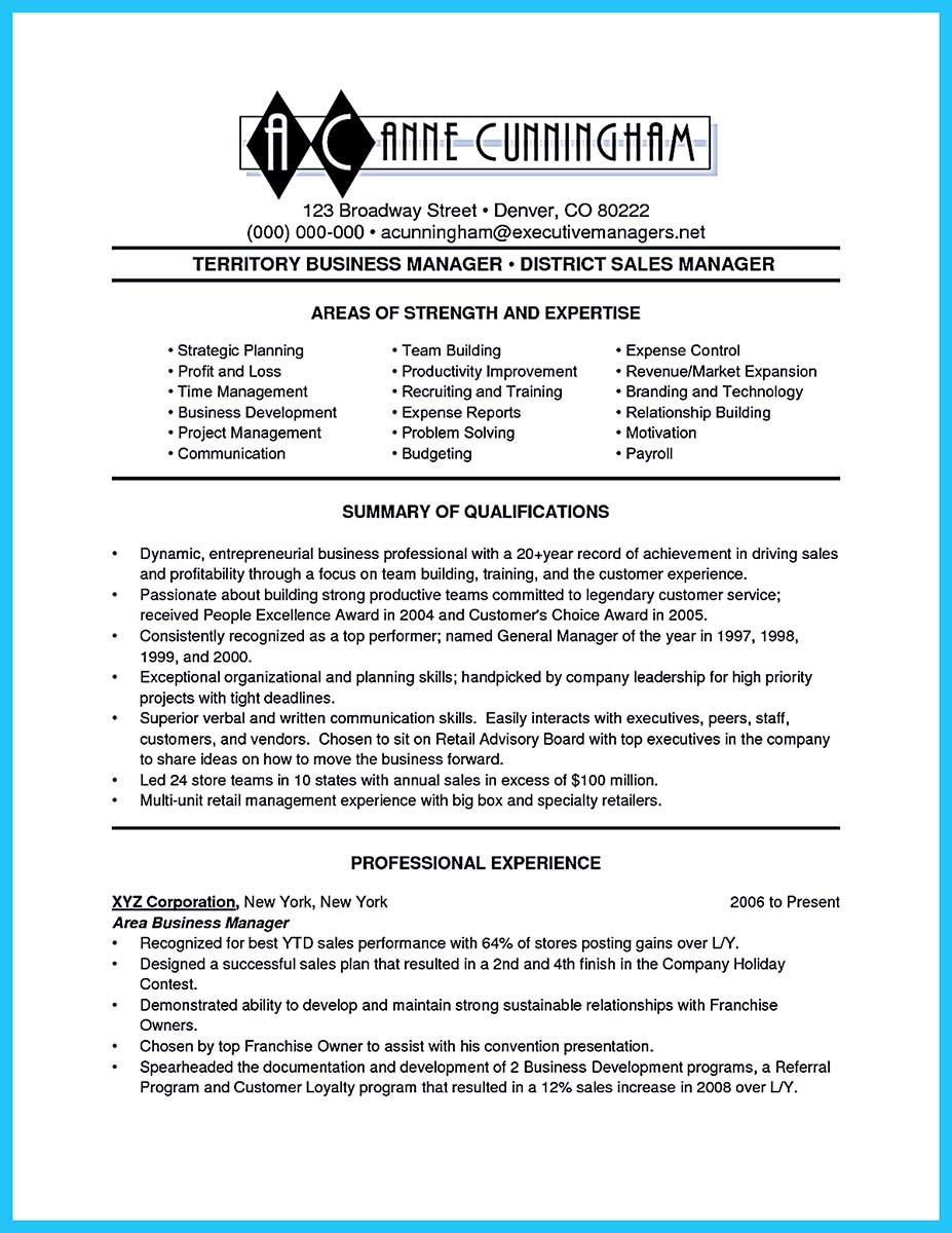resume tips business administration